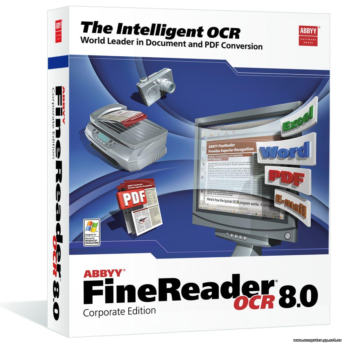 ABBYY Finereader 8. 0 - всемирно известная программа, для сканирования